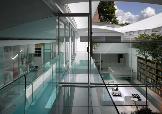 Paxton Locher-designed futuristic five bedroom house in Hampstead, London NW3