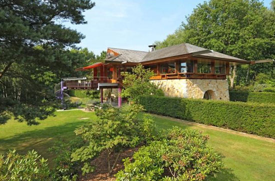 On the market: Michael Wilford-designed Lone Oak Hall property in Hartfield, East Sussex
