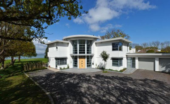 On the market: Art deco-inspired contemporary four-bedroom house in Hayling Island, Hampshire