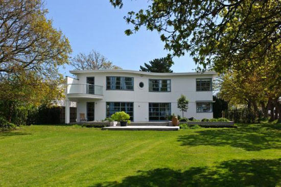 Art deco-inspired contemporary four-bedroom house in Hayling Island, Hampshire