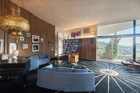 Charlton Heston's 1950s midcentury modern property in Coldwater Canyon, Los Angeles, California, USA