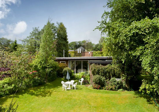 1960s architect-designed midcentury-style bungalow in Higham, Lancashire