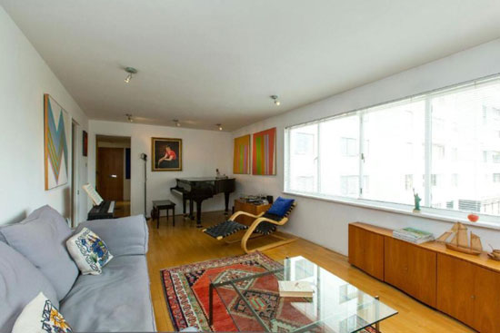 First floor apartment in the grade I-listed Berthold Lubetkin-designed Highpoint building in North Hill, London N6