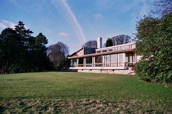 15. 1960s Trevor Dannat midcentury modern Pitcorthie House in Colinsburgh, Eastern Fife, Scotland