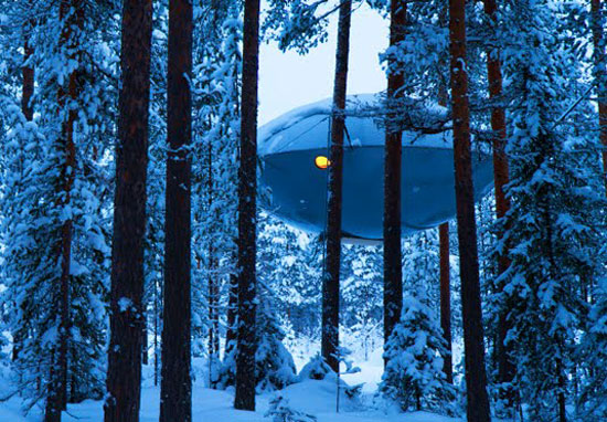 30. The UFO at the Treehotel, Harads, Sweden