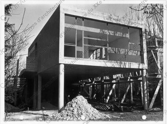 1950s Andre Bloc and Claude Parent-designed modernist property in Meudon, near Paris, France