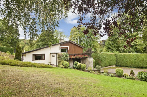 Midcentury Bandini house and equestrian facility in Cradley, Malvern, Worcestershire