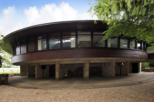 On the market: 1960s Arthur A J Marshman-designed Horton Rounds circular house in Horton, Northamptonshire