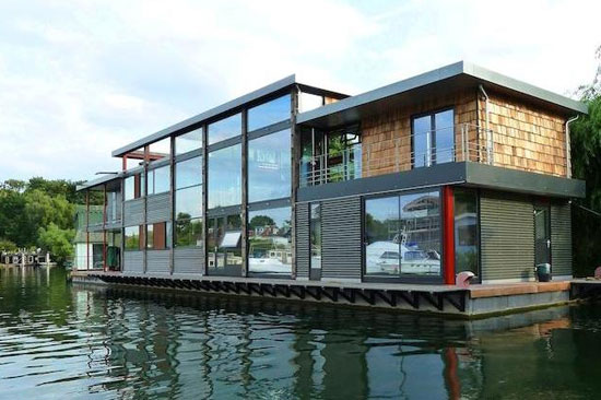 On the market: Five-bedroom modernist floating home on Taggs Island ...