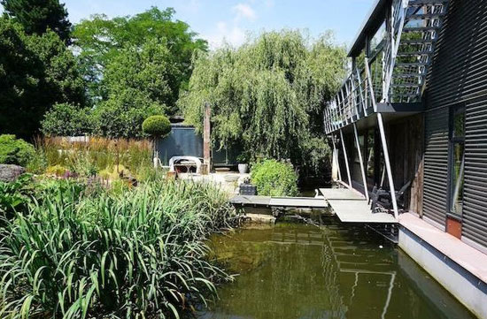 Five-bedroom modernist floating home on Taggs Island, Hampton, Middlesex