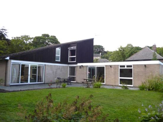 1970s architect-designed modernist property in Huddersfield, West Yorkshire