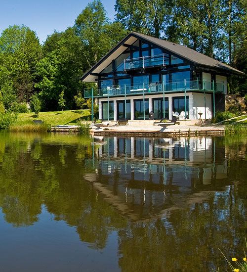 Huf Haus at Cleveley Mere, near Lancaster, Lancashire