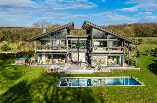 On the market: Seven-bedroom contemporary modernist Huf Haus in Little London, near Andover, Hampshire