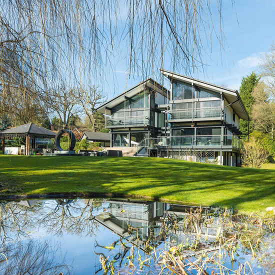 Huf Haus modernist property in St George's Hill, Weybridge, Surrey