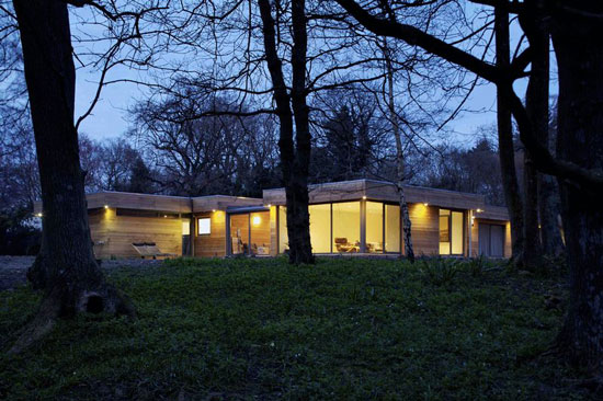 On the market: Hut Architecture-designed four-bedroom modernist property in Peasmarsh, East Sussex