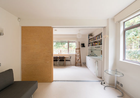 One-bedroom apartment in the 1930s Wells Coates-designed Isokon Building, London NW3