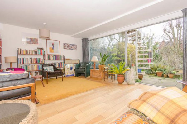 1960s modernist townhouse in Highgate, London N6