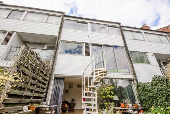 1960s modernist townhouse in Highgate, London N6
