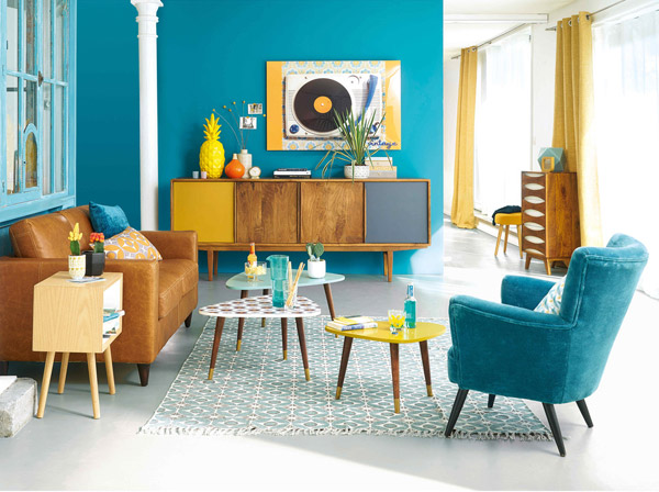 Janeiro midcentury furniture range at Maisons Du Monde