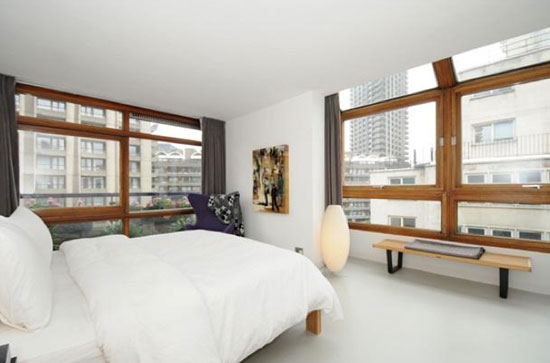 Two-bedroom M3E apartment in Chamberlin, Powell & Bon-designed Ben Jonson House on the Grade II-listed Barbican Estate, London EC2