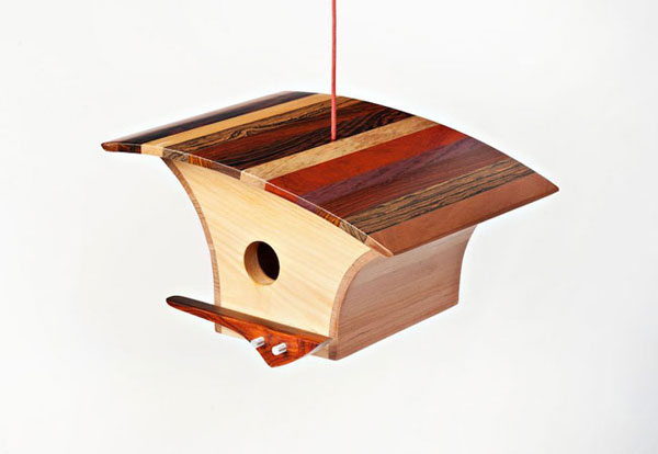 Architecture for birds: Midcentury-style birdhouses by KoolBird