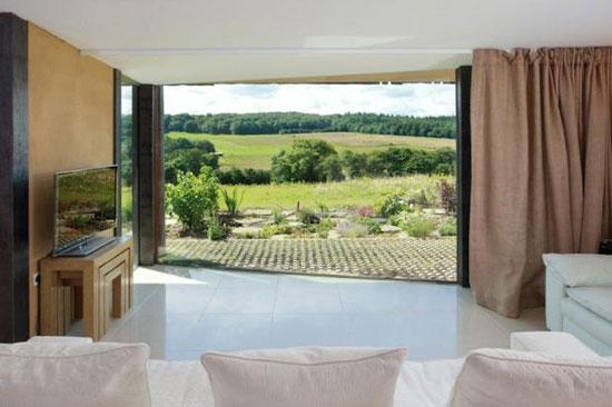 Pauline Karminski-designed earth-sheltered house in Elham Valley, Kent