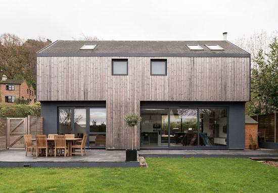 Kate Stoddart-converted modernist property in Ewshot, near Farnham, Surrey