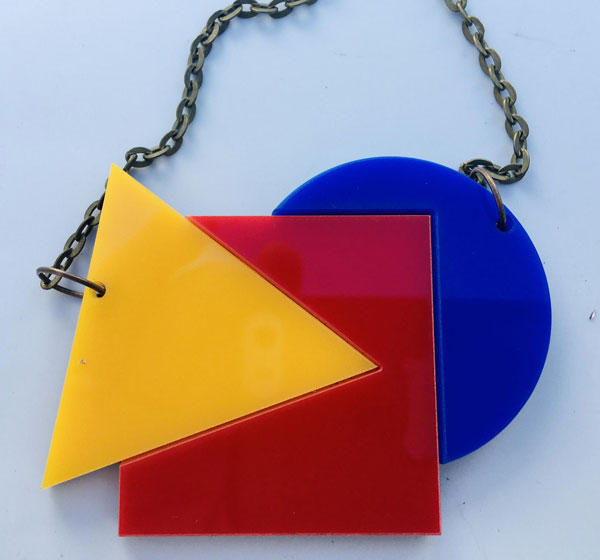 29. Bauhaus acrylic necklace by Kate Made It
