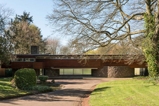 On the market: 1960s Robert Harvey-designed midcentury modern property in Kenilworth, Warwickshire