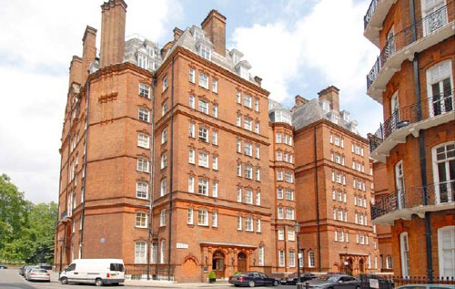 Four-bedroomed flat at Kensington Gore, London SW7
