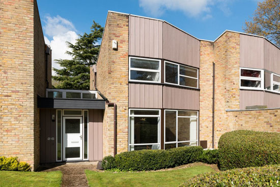 On the market: 1960s Eric Lyons-designed property on the Lambardes Span estate, New Ash Green, Kent