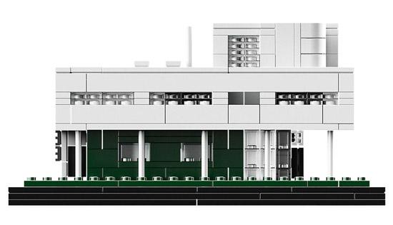 Le Corbusier's Villa Savoye modernist house Lego Architecture set
