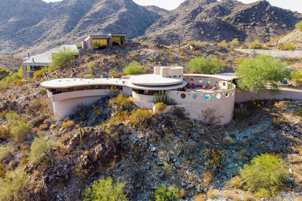 Frank Lloyd Wright's Circular Sun House in Phoenix, Arizona, USA