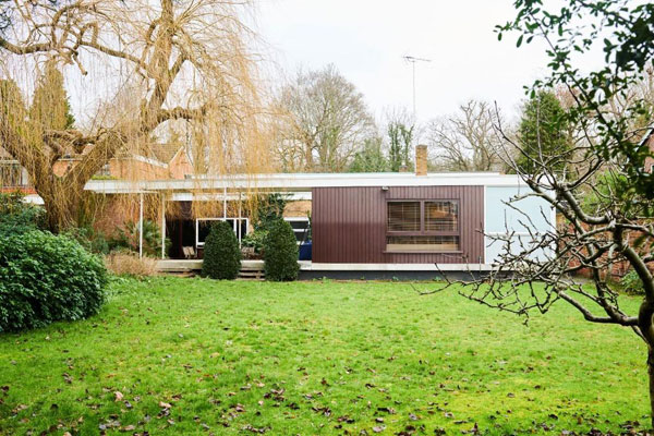 1950s midcentury modern house in Richmond, Surrey