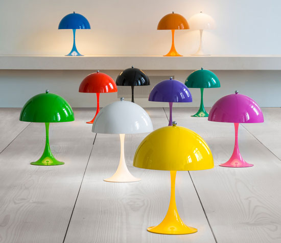 Design spotting: Louis Poulsen issues a miniature version of the classic Verner Panton-designed Panthella lamp