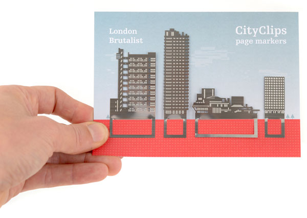 London Brutalist Bookmarks by Another Studio