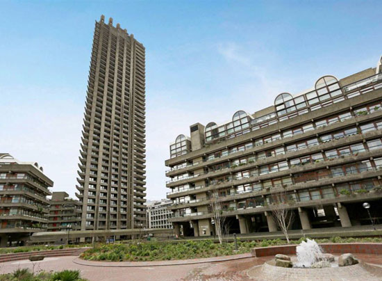 On the market: Apartment in the grade II-listed Lauderdale Tower on the Barbican Estate, London EC2Y