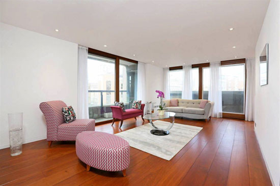 Apartment in the grade II-listed Lauderdale Tower on the Barbican Estate, London EC2Y