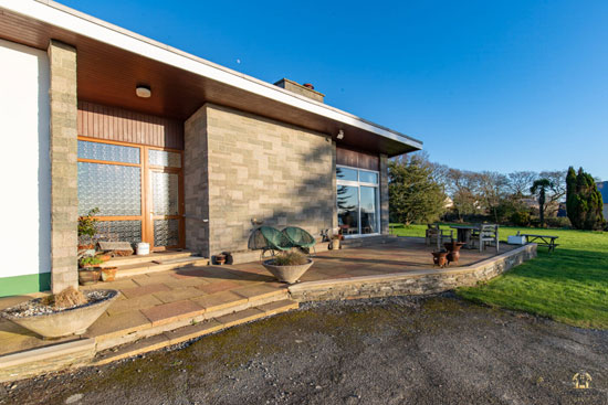1960s midcentury modern house in Houghton, Pembrokeshire, Wales