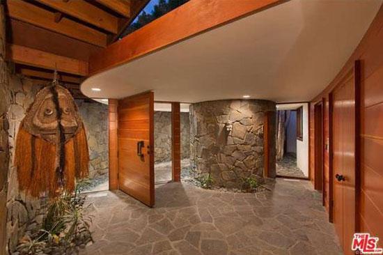 1980s John Lautner-designed Alden Schwimmer Residence in Beverly Hills, California, USA