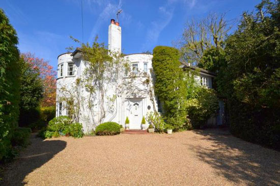 On the market: Four-bedroom 1930s art deco property in Laleham, Surrey