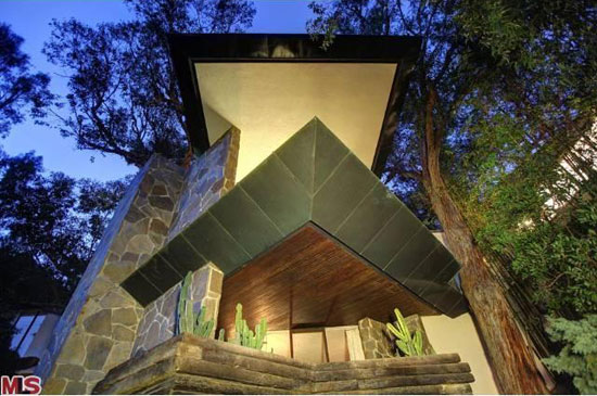 On the market: 1960s John Lautner-designed The Wolff House in Los Angeles, California, USA