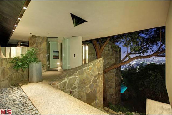 1960s John Lautner-designed The Wolff House in Los Angeles, California, USA