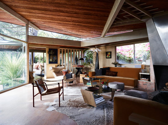 1940s Rudolf Schindler-designed The Lechner House in Los Angeles, California