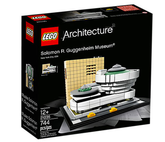 Frank Lloyd Wright's Solomon R. Guggenheim Museum now available as a Lego set