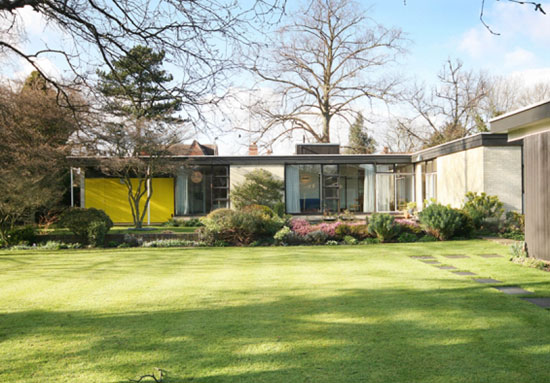 On the market: 1950s Fello Atkinson and Brenda Walker-designed grade II-listed midcentury modern property in Leicester, Leicestershire