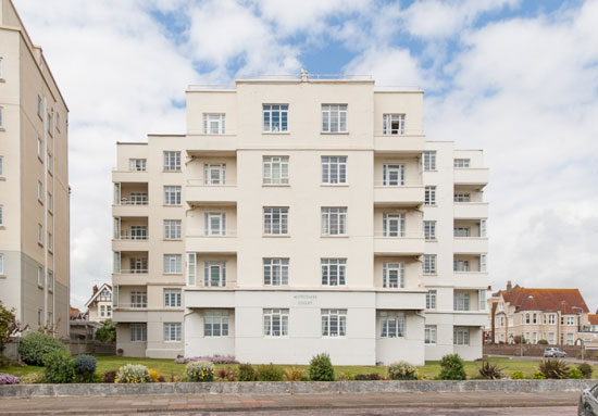 1930s Henry Tanner-designed Motcombe Court art deco building in Bexhill-on-Sea, East Sussex