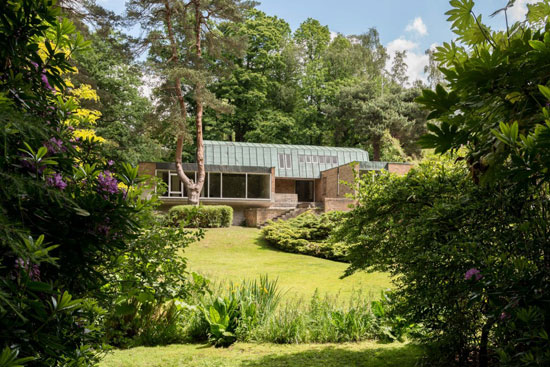 On the market: 1960s Leslie Gooday-designed grade II-listed modernist property in St George's Hill, Weybridge, Surrey