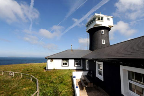 Live in a lighthouse: Five-bedroom house plus holiday let for sale at The Old Lighthouse, St. Ann's Head, Dale, near Milford Haven