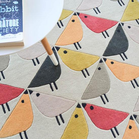 Design spotting: Scion midcentury-style Lintu rugs